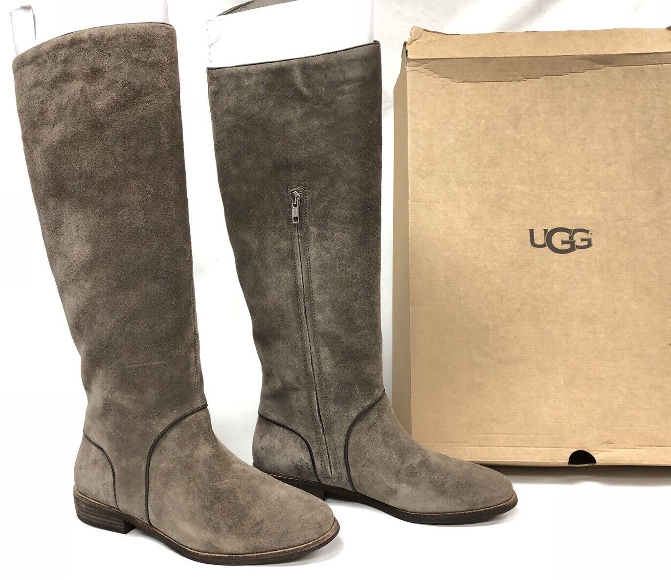06499e162b0 UGG Australia Gracen Ridning Mouse Grågrå 8258 TALL Suede LEATHER ...