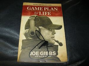 Game-Plan-for-Life-Book-Autographed-by-Joe-Gibbs-JSA-Auc-Cert