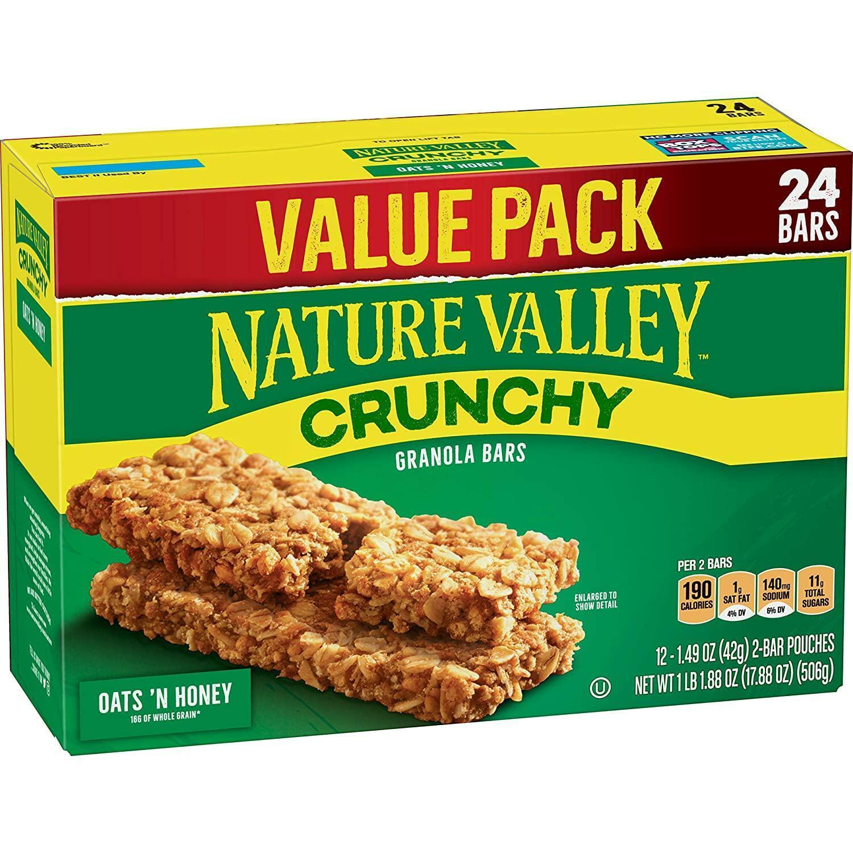 Nature Valley Granola Bars, Crunchy Oats 'N Honey, 17.88 ...