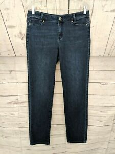 J-JILL-Women-039-s-Dark-Wash-Slim-Boyfriend-Straight-Leg-Jeans-Size-6-x-L30