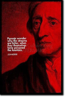 JOHN LOCKE ART PRINT PHOTO POSTER GIFT QUOTE LOCK PHILOSOPHY ENLIGHTENMENT