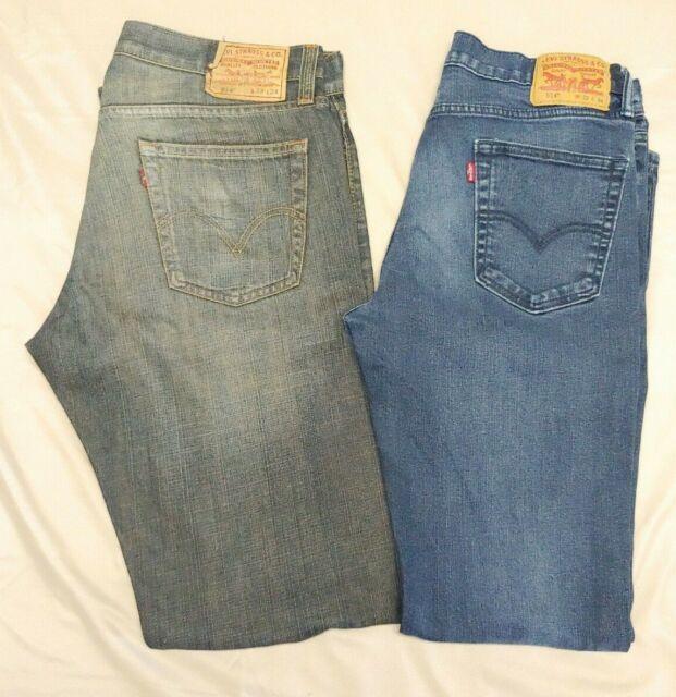 NEW Levi/'s 514 Jeans Mens Size W40 L34 Blue Regular Fit Straight Denim