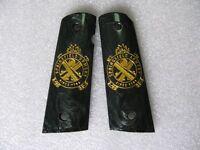 1911 Grips Gold Logo On Black Resin Grips, Colt Kimber 1911 1991 Full Size
