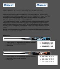 2019 Dudley Lightning Legend HotW SSUSA Softball Bat End Cap