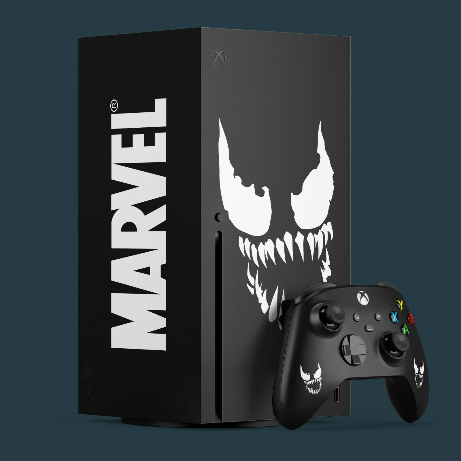 Xbox Series X Vinyl Skin & 2x Controller Vinyl Skins, Venom Themed.