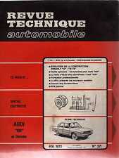 REVUE TECHNIQUE AUTOMOBILE N0321 1973 AUDI 100 RENAULT 12 / 12 TS