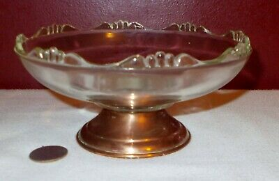 Candy Dish PRINCESS HOUSE Copper Bottom Vintage