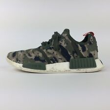 Adidas NMD/_R1 Camo Pack G27914 Green Silver Red Boost Running Shoes