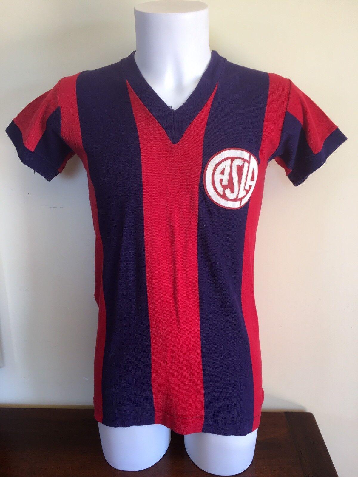 Maglia San Lorenzo de Almagro Lazio 1974 n 2 Ricardo Rezza silverina Camiseta