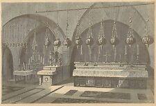 A3477 Santo Sepolcro in Gerusalemme - Incisione - Stampa Antica del 1891