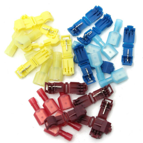 15 pares Rápida Empalme Cable conector macho Spade para alambre 22-10AWG Rojo Azul Amarillo