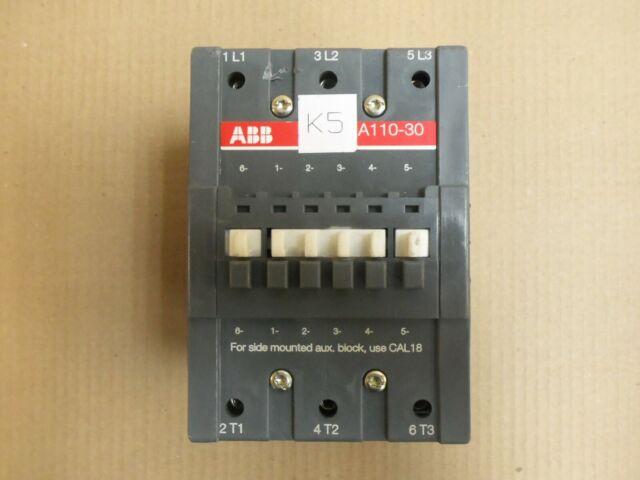 ABB A110-30 CONTACTOR 160A 1000V 3PH 120V COIL   eBay
