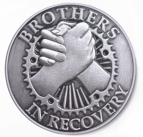 BROTHERS IN RECOVERY Brushed Antique Nickel AA //NA Coin