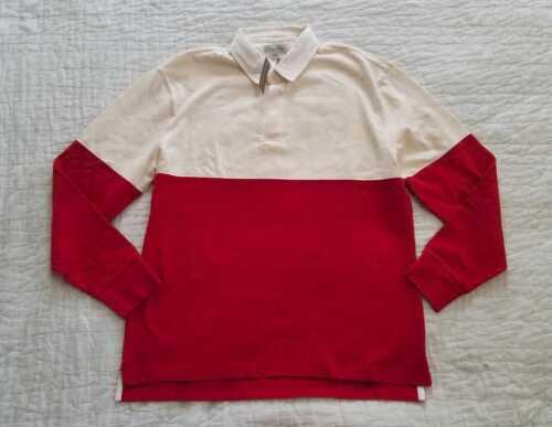 NEW MEN/'S M L XL J Crew 1984 Classique Rugby Shirt dans Colorblock Rock Rouge