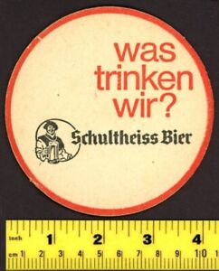 German-Beer-Coaster-Schultheiss-1968