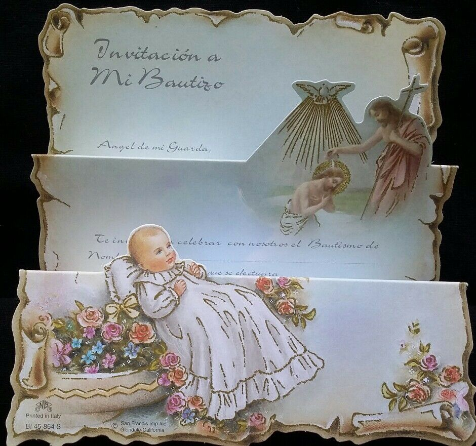 100 Invitaciones de,A Mi Bautiz (Spanish Baptism Christeninginvitations),Favors
