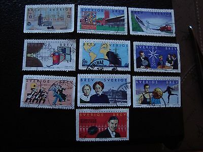 Briefmarke Yvert Et Tellier N° 2053 A 2062 Obl y Suede a29 Sweden