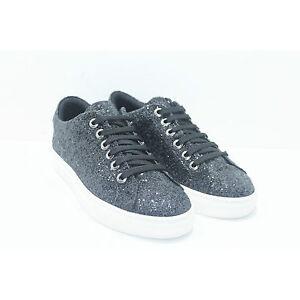 Sneakers stringate glitterate donna