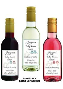 8-MINI-personalised-WINE-Bottle-LABELS-Baby-shower-gift-favour-present-CUTE