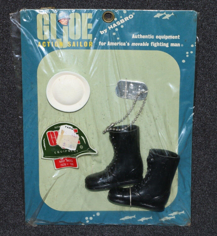 Gi Joe 1964 1967 Navy 7628 Basics conjunto menta en tarjeta Doble R etiquetas de perro de fábrica Cosido