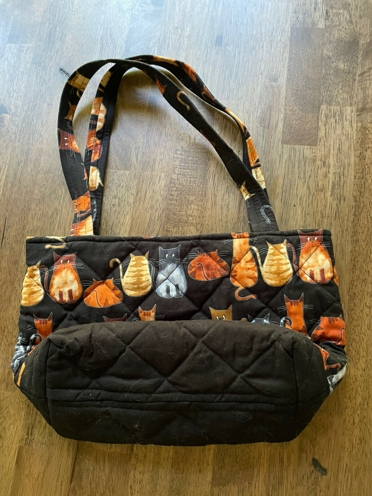 Kitten Cat Quilted Tote Purse Bag - image 2