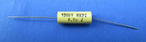 5 x 6,2nf//1500v 5/% han-diapositivas condensadores mkp1 axial RFT