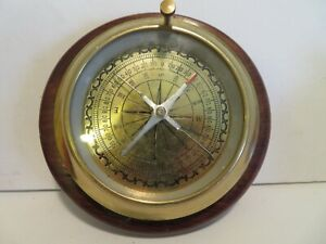 Liberal Wooden Base Nautical Compass Fully Functional Compass 6 Inch Maritime Antiques
