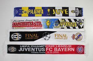 JUVENTUS-Sciarpa-Man-United-REAL-MADRID-PARMA-CALCIO-BAYERN-Sciarpe-finale-Retro