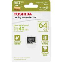 Toshiba 64gb Microsdxc Micro Sd Xc Class 10 Card 40mb/s Professional Uhs-i 64 Gb