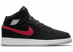864a1465335 SALE AIR JORDAN 1 MID MULTICOLOR SWOOSH BLACK RED BLUE NEW GS KIDS ...