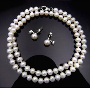 White-Freshwater-Pearl-Necklace-and-Earrings-Set-with-Sterling-Silver