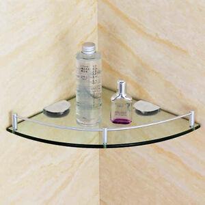 Single-Glass-Organizer-Holder-Rack-Tier-Bathroom-Bath-Corner-Shelf-Shower-Caddy