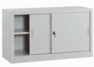 armadio mobile archivio basso per ufficio in metallo