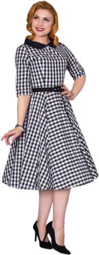 Sheen EMILY Vintage GINGHAM Pepita Karo Bubikragen SWING Dress Kleid Rockabilly