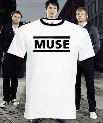 Muse Rock Punk Band Group Ringer Mens Retro Music Retro T Shirt Tee Top New