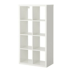 Ikea Kallax 2 x 4 Shelf Unit High Gloss White 103.057.41