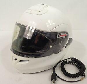 ex police white shoei multitec flip front motorcycle bike helmet 55 56cm a5 wd28 ebay. Black Bedroom Furniture Sets. Home Design Ideas