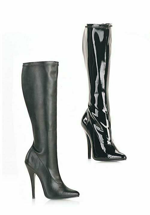 Devious DOMINA-2000 6 Inch Plain Stretch Knee Boot
