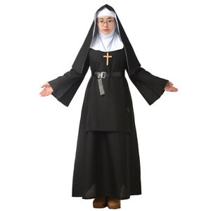 Blessume-Women-039-s-Nun-Dress-Halloween-Party-Cosplay-Costume