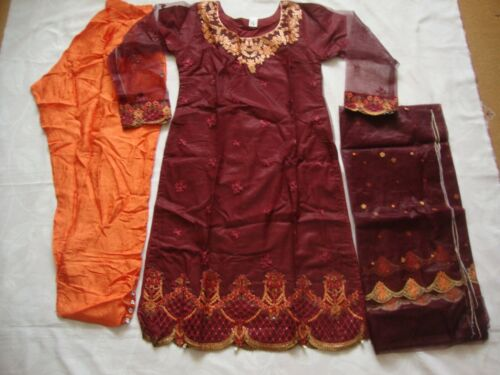 Pakistani Indian Net Mousseline costume brodé prêts 2019 Party Wear