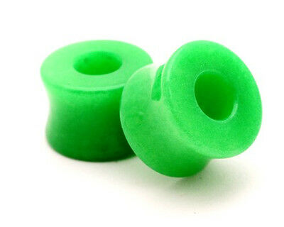 Pair of Green Jade Stone TUNNELS set gauges organic plugs PICK SIZE