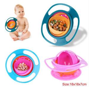Bol Gyroscopique 360° Bébé Enfant Repas Anti Chute Assiette Gyro bebe