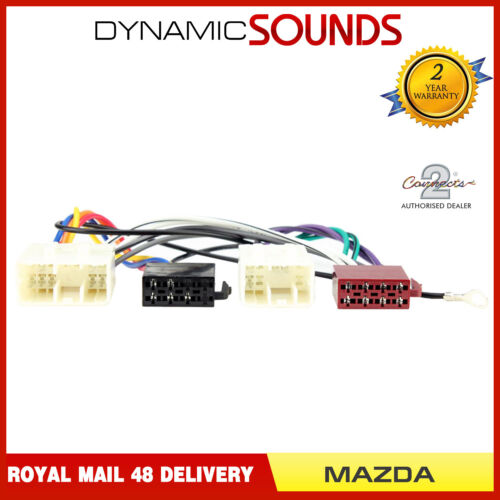 Connects2 CT20MZ01 Car Stereo ISO Wiring Harness Adaptor Loom For Mazda