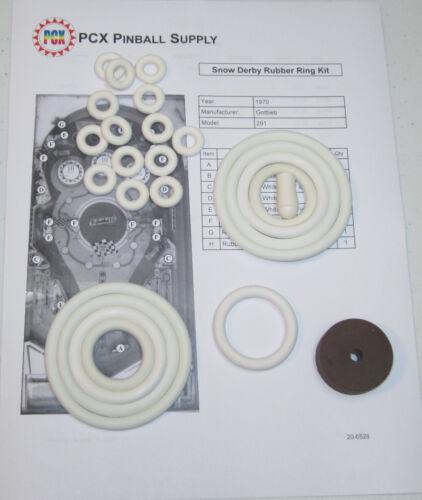 1970 Gottlieb Snow Derby Pinball Machine Rubber Ring Kit