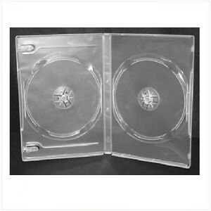 NEW-2-Disk-Standard-DVD-Case-3pack-Lot-14mm-Clear