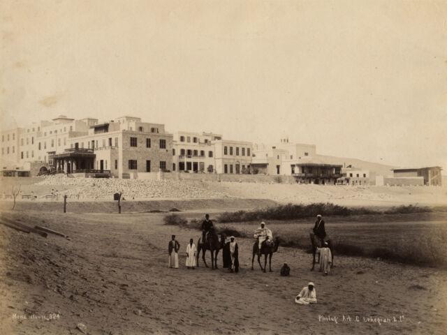 EGYPTE Mena House, Photo Lekegian, Vintage Albumen, Albumine ca 1880