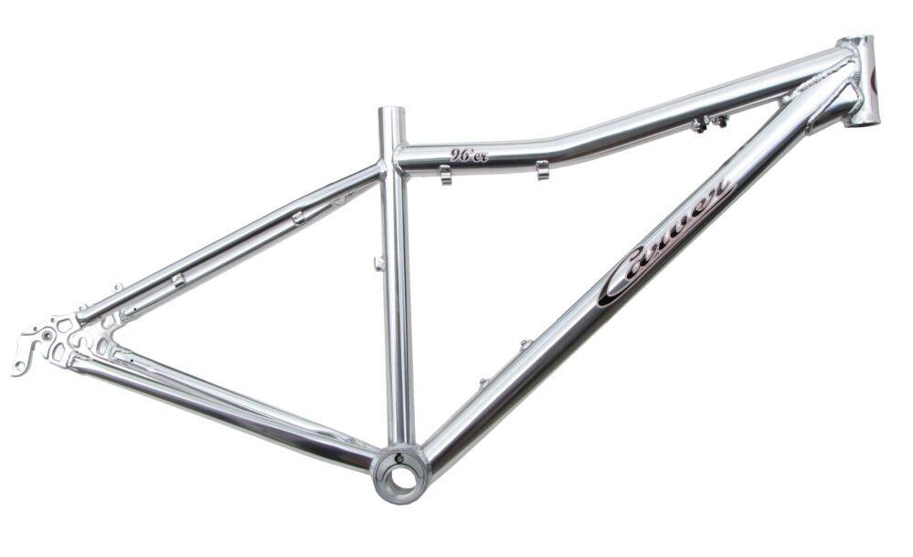Bicicletas de Cochever 96'er Aluminio MTB Montaña Marco 15  Pulido Plata 29er. nuevo.