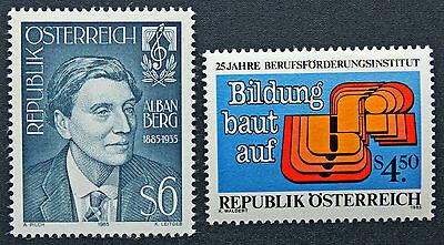 Generous Austria Stamp Yvert And N Tellier°1632 Et 1633 N Stamp Austria cyn5