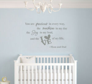 Details About You Are Precious In Every Way Baby Quote For Nursery Wall Decal