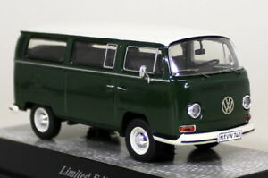Premium-ClassiXXs-1-43-Scale-11309-VW-T2a-Green-White-Bay-Diecast-Model-Van